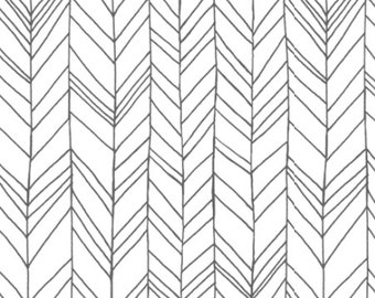 Fitted Crib Sheet Grey Herringbone- Grey Crib Sheet- Herringbone Crib Sheet- Chevron Crib Sheet- Grey Crib Bedding- Baby Bedding- Sheet