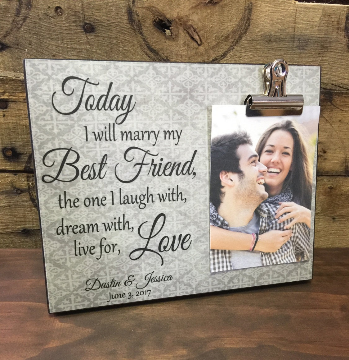 Wedding Gift, Bride & Groom Gift, Personalized Photo Board, Today I ...