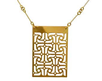 NECKLACE gold Toledo Andalusia collection. Contemporary jewelry, minimalist design.