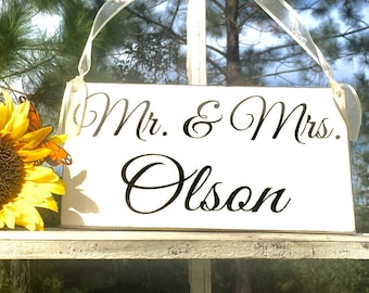 WEDDING SIGNS | Mr & Mrs _______ | Inspirational Signs | Scripture Signs | Wood Signs | 6 x 11.5