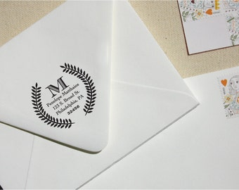 Custom Stamp - Return Address Stamp - Greek Personalized Address Stamp