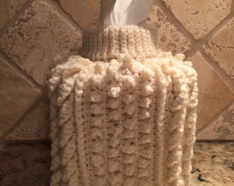 Knitted, Tissue Box Cover