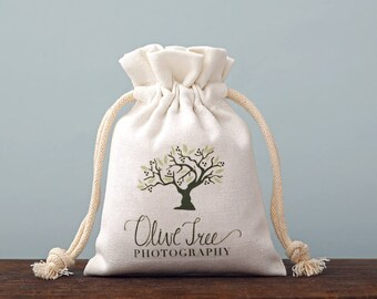 50 personalize logo name brand print drawstring bags custom small fine cotton canvas bag gift drawstring pouches jewelry packaging bags