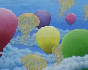 "Fine Art Print; ""To Float""; 9x11 inches; Giclee print on fine art paper"