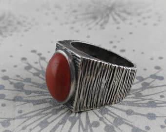 Modernist 925 Ring - Statement Ring - Brutalist 925 Ring - 1970s Silver Ring - Mother's Day Gift - HJ Silver Ring - Gift for Women