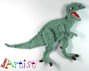 Crochet Applique T-rex Dinosaur