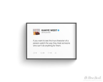 5-Pack Printable Kanye West Tweets | 5x7 Instant Download