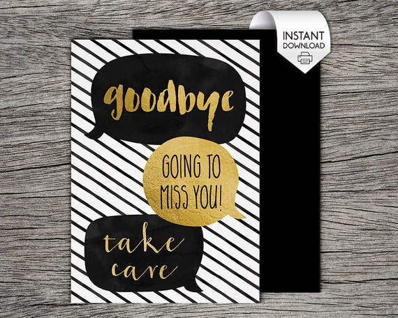 Geeky image throughout farewell card printable