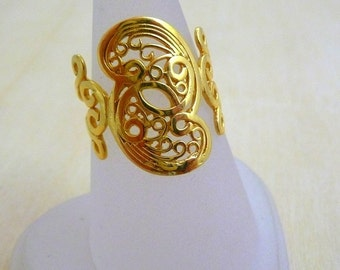 Filigree ring GOLD Filled Ring gold jewelry, rings for women