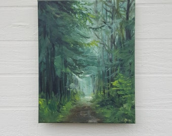 Wooded Walk. Original Acrylic Painting on Canvas.