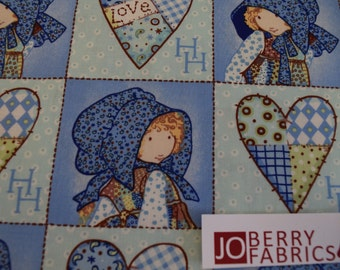 Holly Hobbie Patch Fabric by SPX Fabrics, Quilt or Craft Fabric, Fabric by the Yard.