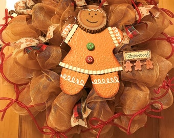 Gingerbread, Gingerbread Wreath, Gingerbread Decor, Christmas Wreath, Wreath, Designers Wreath