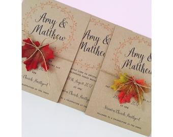 Autumnal Wedding Invitations