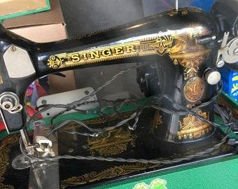 Authentic Singer 127 Sphinx/Memphis Sewing Machine 1920