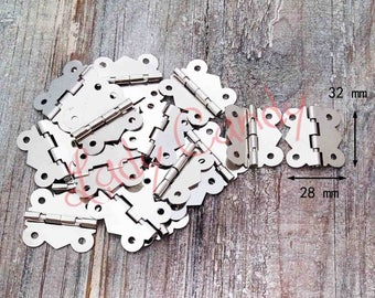 Set of 10 hinged Butterfly jewelry box / chest Cabinet hinge Pivot hinge /#120040