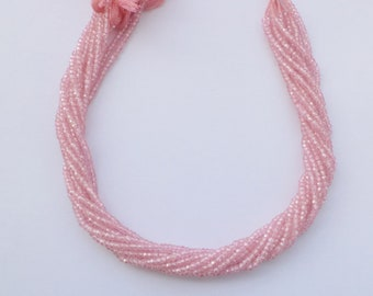 Gorgeous looks Pink Cz Micro cutting beads 3 mm 13 inch