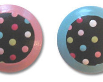 Cocoa Dot Kids Drawer Cabinet Furniture Knobs pulls