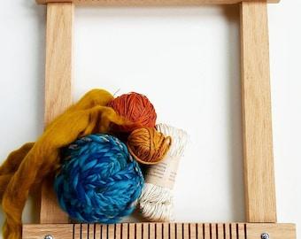 Medium Oak Lap Loom, weaving loom, frame loom, weaving frame, large loom, wooden frame, weaving, weaving supplies, oak wood