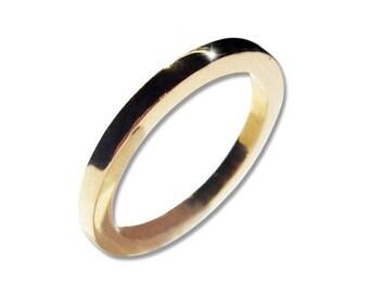 Wedding Band Set 14k Gold Rings for Men and Women