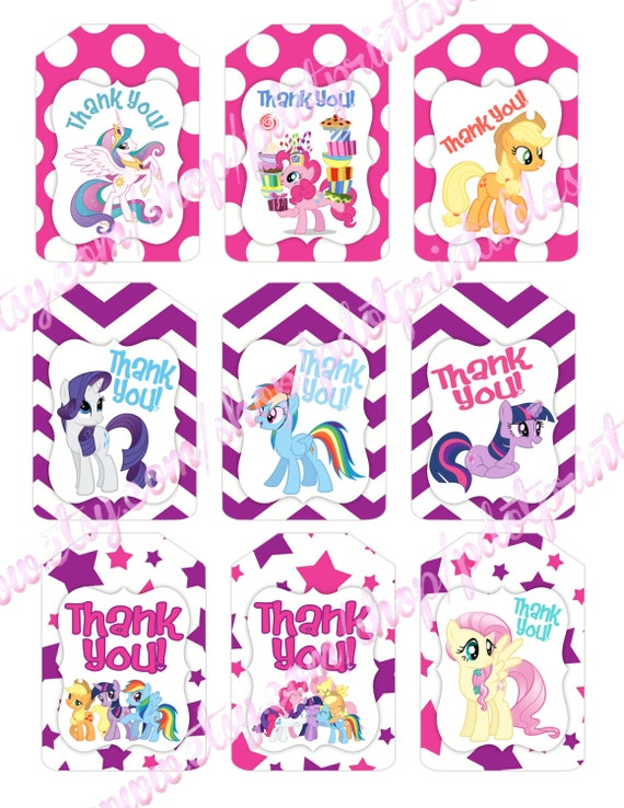 My Little Pony Friendship Is Magic Thank You Tags
