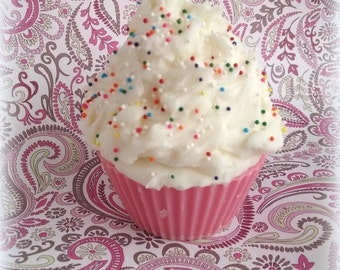Fabulous Cake, Cupcake Candle, Birthday Gifts, Faux Cupcake, Food Candles, Bakery Sweet Scent, Candy Sprinkles, Gifts for Her, Scented Soy
