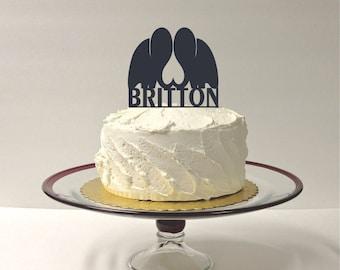 MADE In USA, Silhouette Elephants Wedding Cake Topper, Personalized Elephants Wedding Cake Topper, Elephant Silhouette Animal Cake Topper