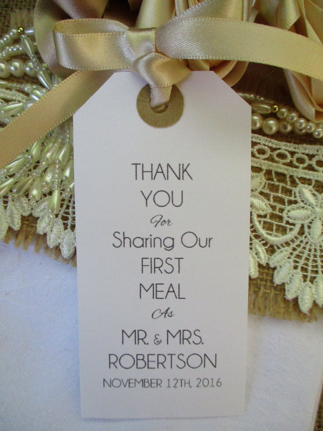Personalised Thank You for Sharing Our First Meal-Wedding