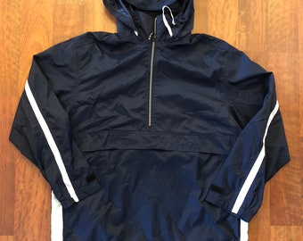 Vintage Nike 1/4 Zip Up Windbreaker Jacket Size Medium Navy Blue White