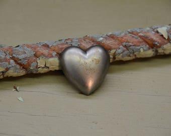"""1.25"""" Small steel heart"""