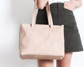 Holly Zip Tote in Natural Vegetable Tanned Leather
