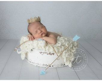 Light Blue Cupid Bow and Arrow Set - Perfect Valentines Day or Newborn Photo Prop