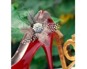 Classy Shoe Clips. Handmade Statement Rhinestone Crystals, Couture Bridal Bride Bridesmaid Wedding Under 50, Elegant Boudoir Edgy Tie Affair