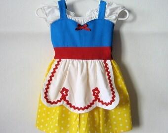 SNOW WHITE dress, Snow White costume,  girls princess dress, comfortable princess dress, Snow White  toddler dress, Lover Dovers, handmade