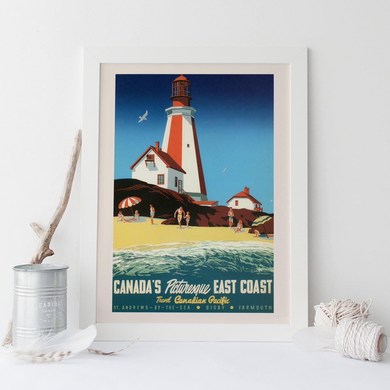 PEGGY es Bucht Reise Poster Kanada reisen Druck Nova Scotia
