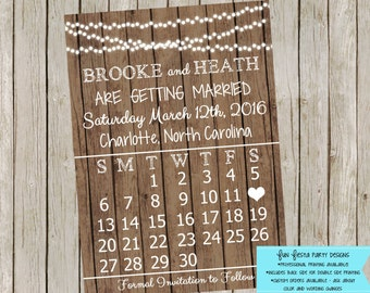 Save the Date: Rustic calendar style