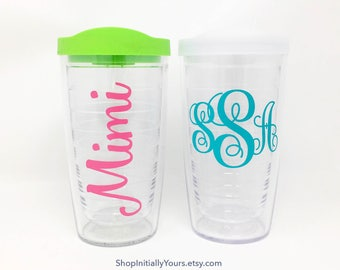 Personalized Monogram Tervis Tumbler, 16oz Tervis Tumbler, Monogram Tervis Cup, Personalized Tervis, Custom Tervis, Monogrammed Cup