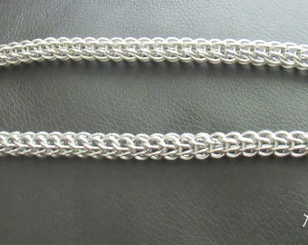 Men's Necklace, Chainmail Necklace, Chainmaille Jewelry, Mens Silver Necklace, Jewelry for Men, Necklace for Men, Boyfriend Gift