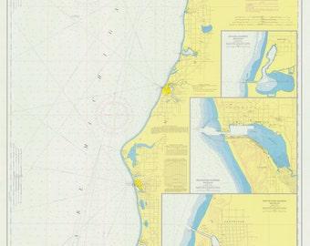Benona to Point Betsie - 1973 Lake Michigan -  Michigan - Nautical Map Reprint  - Great Lakes Harbors #7 - 77