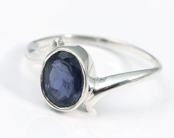 Iolite 92.5 sterling silver ring size 7 us
