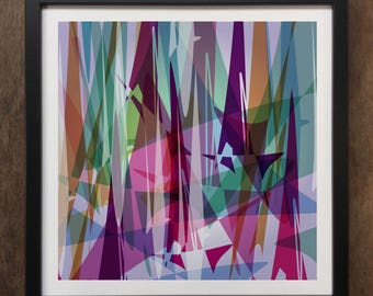 Abstract Colourful shapes Framed Art Print Geo-ART103