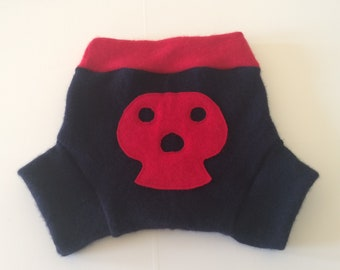 EXTRA LARGE, XL 100% Wool Cloth Diaper Cover, Upcycled Wool Soaker, Wool Shorties