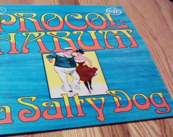Vintage Procol Harum A Salty Dog Vinyl Record Album UK 1972 Progressive Rock Symphonic
