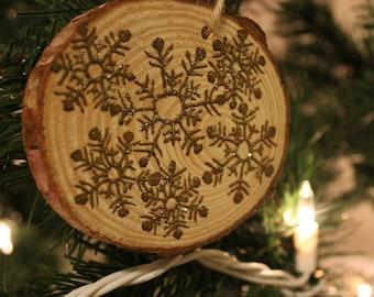 Henna snowflake ornament