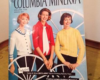 Vintage Columbia Minerva Knitting Book, Vintage Knitting Patterns, Knitting Book, Classic Knitting Patterns