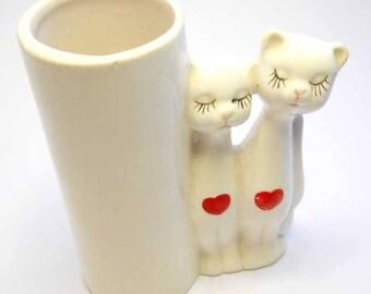 Vintage Cats Mini Vase