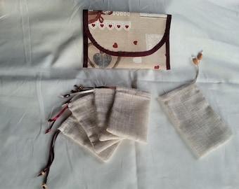 Pocket tea set reusable washable tea bags
