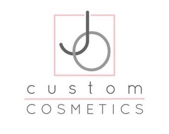 Custom liquid foundation and powder brush.