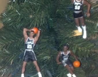 David Robinson or Sean Elliott or Tim Duncan San Antonio Spurs basketball Christmas sports ornament