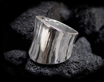 Silver Statement Ring for Men and Women Sterling Personalized Jewelry