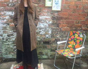 1970s Brown suede coat.